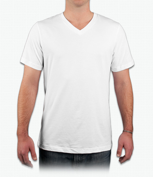 Custom Canvas Delancey V-Neck T-Shirt - Design Online