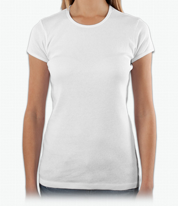Bella Ladies Cotton/Spandex Crew Neck