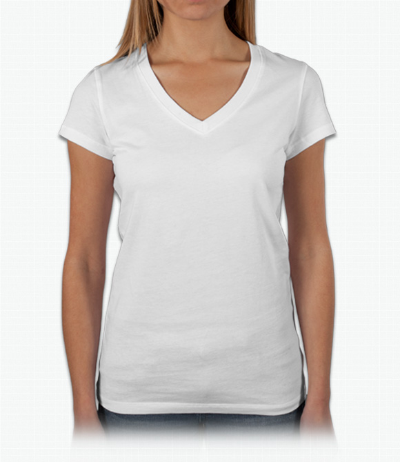 Custom Bella Ladies Baby Rib V-Neck T-Shirt - Design Online