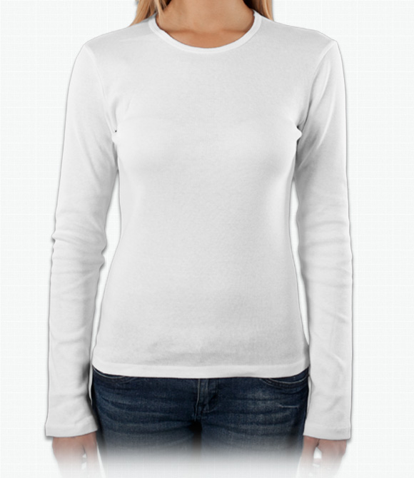 Custom Ladies Long Sleeve Shirts - Design Ladies Long Sleeve Shirts ... b5097fd8e19e