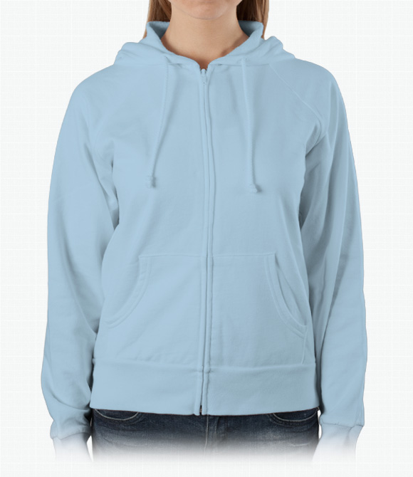 Bella Ladies 7.5 oz. Full-Zip Raglan Hoodie image