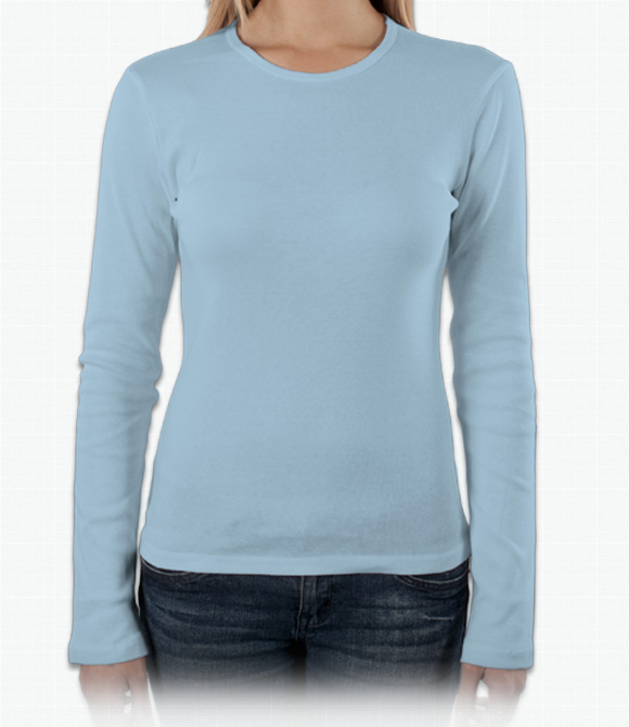 Bella Ladies 4.2 oz. Long-Sleeve Crew Neck Jersey T-Shirt image
