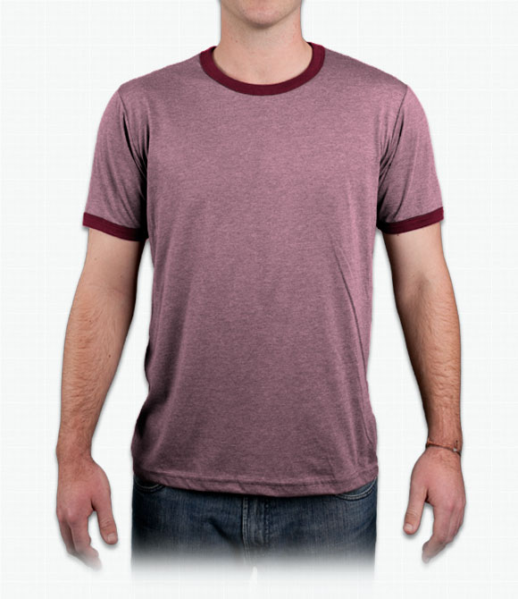 Canvas Mens 4.2 oz. Heather Ringer Jersey T-Shirt