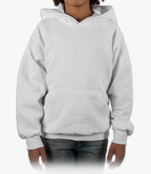 Hanes Youth 50/50 Hooded Sweatshirt image