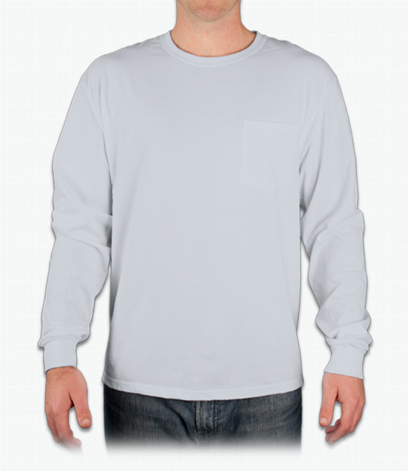Hanes Tagless Long-Sleeve T-Shirt w/ Pocket