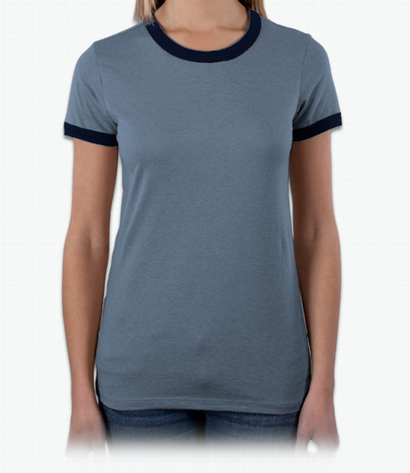 Bella Ladies 4.2 oz. Short-Sleeve Heather Jersey Ringer image