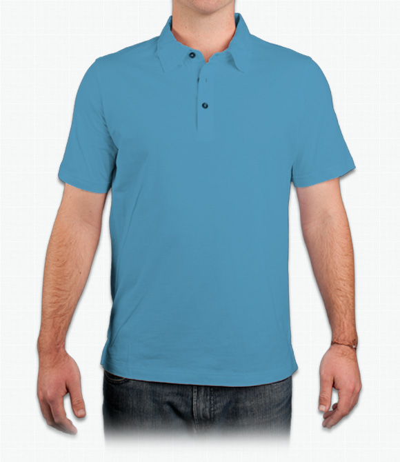 Canvas Mens 4.2 oz. Short-Sleeve Three-Button Jersey Polo image