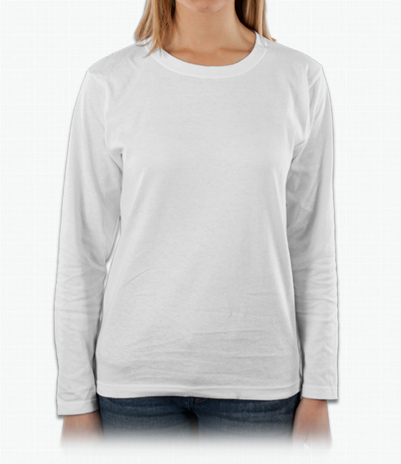 Anvil Ladies 100% Cotton Long Sleeve T-Shirt